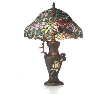 Tiffany Fairy Amp Hummingbird Table Lamp Qvc Uk