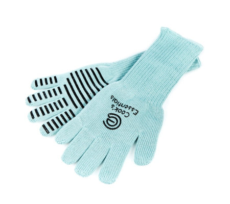 Cook's Essentials Pair of Flexible Oven Gloves with Longer Cuff