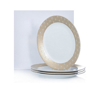 JM by Julien Macdonald Deco Collection 4 Large Porcelain Dinner Plates - 806445