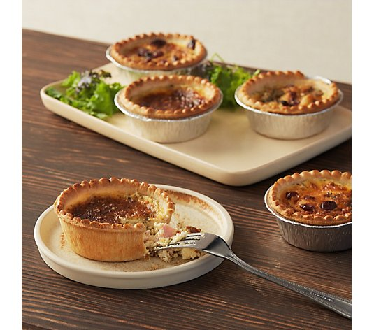 The Real Pie Company 8 Piece Festive Quiches
