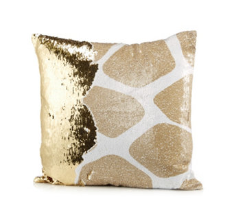 JM by Julien Macdonald Safari Giraffe Reversible Sequin Cushion - 805951