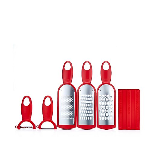 Kuhn Rikon 3 Piece Grater Set with 2 Swiss Peelers