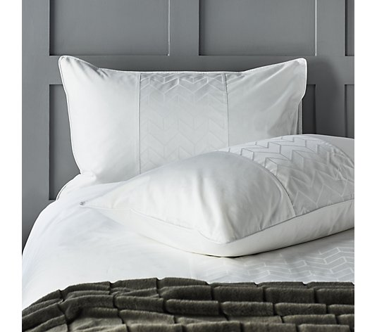 K By Kelly Hoppen 100% Cotton Chevron Jacquard 3 Piece Duvet Set