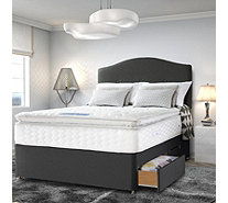 Sealy Posturepedic Gel Supreme 1400 Springs Pillowtop Mattress and Divan Bed - 806356