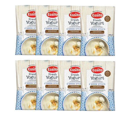 Easiyo Set of 8 Greek Style Coconut Yogurt Selection