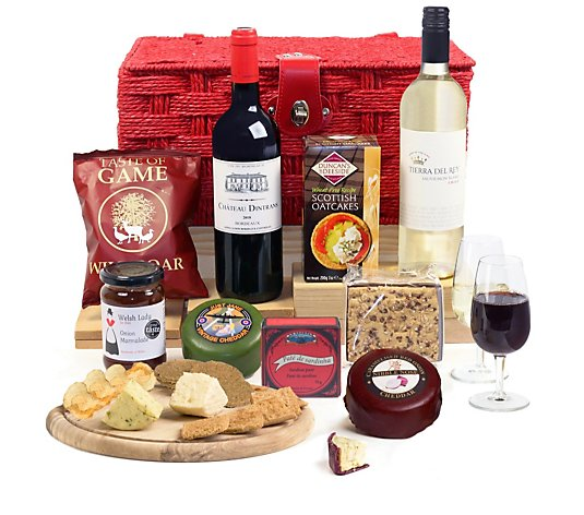 Hay Hampers Wine & Cheese Gourmet Hamper Basket