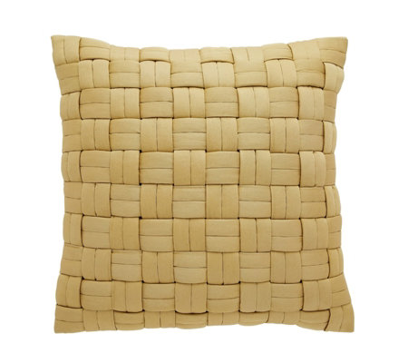 Habitat Aliona Yellow Interwoven Cushion