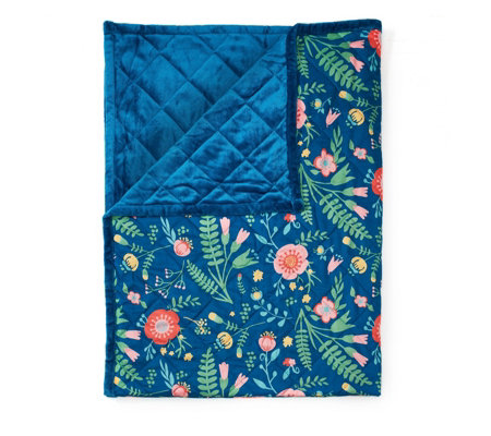 Cozee Home Floral Folk Quilted Supersoft Velvet Soft Throw