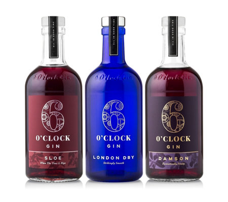6 O'Clock Gin Great Taste Award Winner 3 Piece Selection