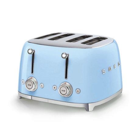 Smeg 4 Slice Retro Toaster With Bun Warmer Amp Sandwich Rack
