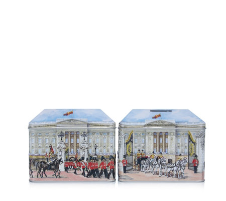 Churchill's Confectionery Set of 2 Buckingham Palace Tins with Biscuits