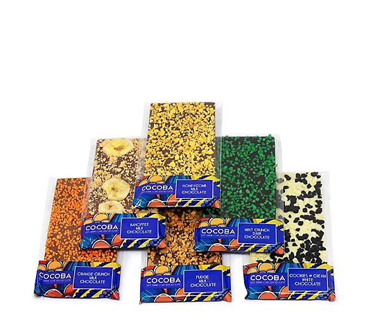 Cocoba Set of 6 Exquisite Topped Chocolate Bars