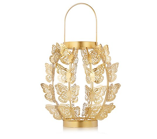 Alison Cork Metal Indoor Outdoor Butterfly Lantern