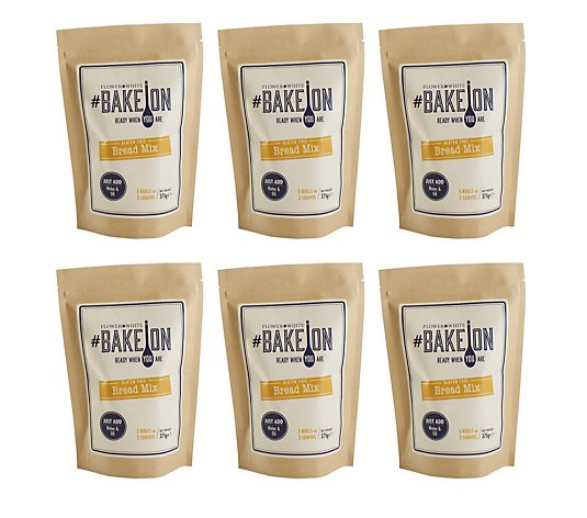 Flower & White Set of 6 Home Baking Bread Mixes