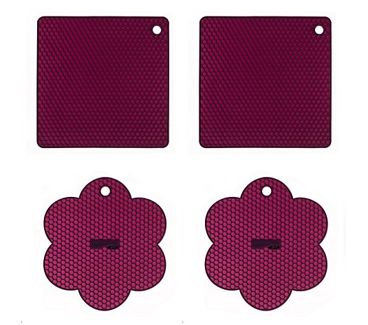 Kochblume Set of 4 Silicone Trivets