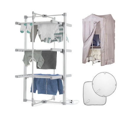 Lakeland Dry Soon 3 Tier Airer with Cover & Delicates Shelf