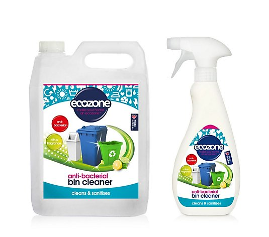 Ecozone Bin Cleaner with 2L Refill Bottle