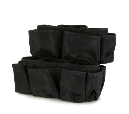 Set Of 2 Microfibre Multi Pocket Bag Organisers By Lori Greiner