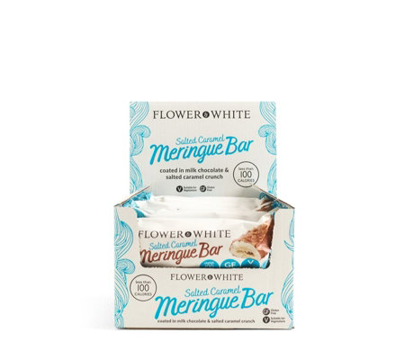 Flower & White 12 Piece Unique Meringue Bars Selection