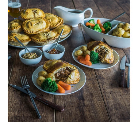 Toppings Pies 12 Piece British Classic Beef Pie Collection