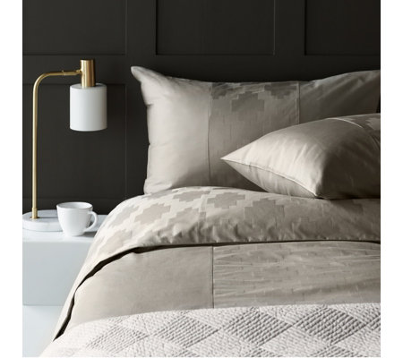 K by Kelly Hoppen 100% Cotton 3 Piece Pixel Jacquard Duvet Set