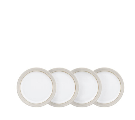 Denby Natural Canvas Set of 4 Medium Plates