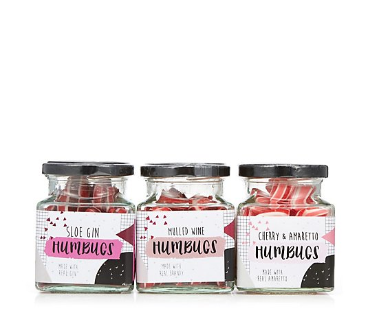 Hollys Lollies Set of 3 Tipsy Humbug Sweets in Jars