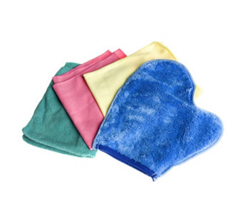 H2O Set of 4 Multi Coloured Microfibre Cloths - 830092