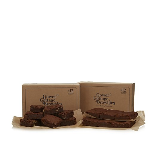 Gower Cottage 24 Piece Handmade Chocolate Brownies