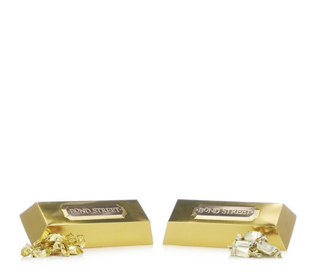 Churchill's Confectionery Set of 2 Gold Ingots with Toffee & Fudge
