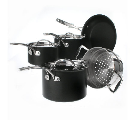 Technique Ii Hard Anodized 4 Piece Pan Set With Steamer By
