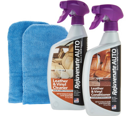 Rejuvenate Auto Leather/Vinyl Cleaner & Conditioner Kit
