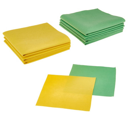 Bio Cleaner Set of 9 Streak-Free Cleaning Cloths