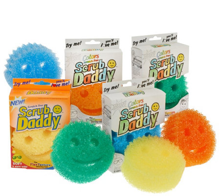 Scrub Daddy Set of 8 Multi-color Scratch Free Sponges