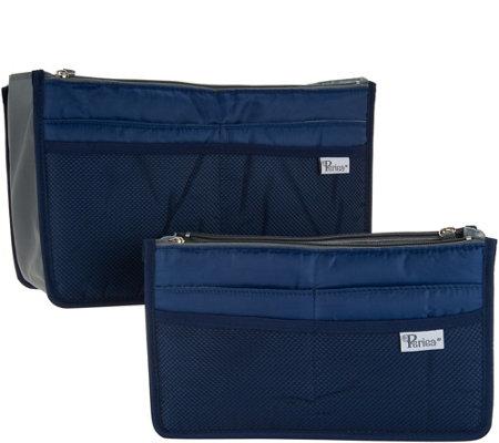 79be21f87be8 Periea Set of 2 Premium Handbag Organizer with Pockets Med & Large — QVC.com