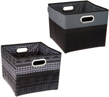 """As Is"" High Road Set of 2 Cargo Cube Trunk Storage Bins"