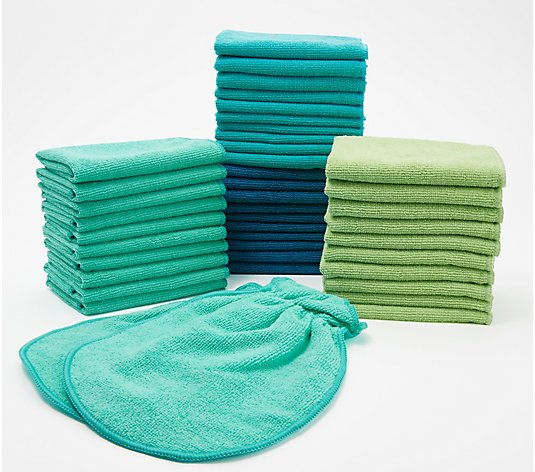 42-Piece Premium Microfiber Towel Set by Campanelli