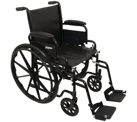 "Carex ProBasics Wheelchair - Swing-Away Leg Rests, 16"" Seat"