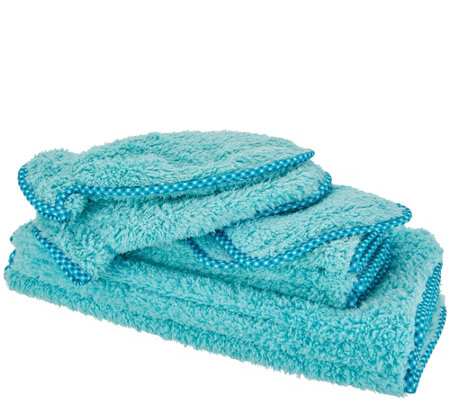 Set of 10 Puppy Fur Microfiber Towels & Mitts by Campanelli