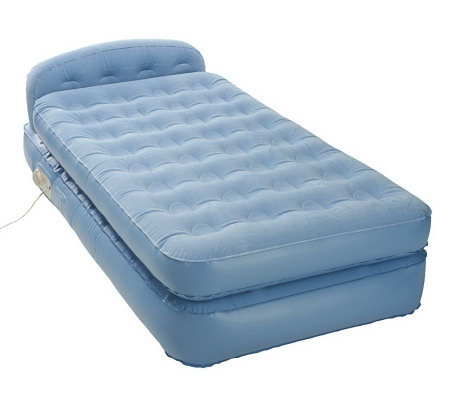 Aerobed Elevated Twin Size Headboard Bed W Built In Pump