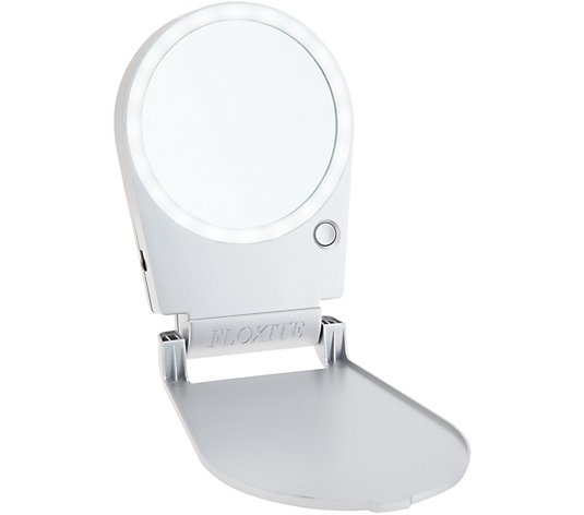 Floxite Mini 5x Lighted Folding Metallic & Travel Mirror