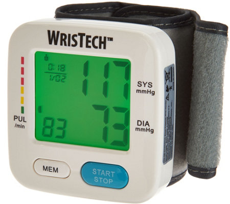 Color Changing Blood Pressure Wrist Monitor