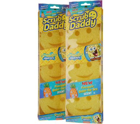 Scrub Daddy Set of 6 SpongeBob Pineapple Scented Sponges