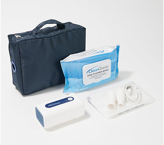 Clean Zone CPAP Cleaner & Sanitizer with 60 Cleansing Wipes
