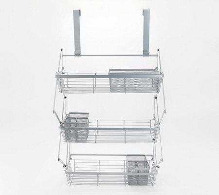 Over-the-Door Organizer with 3 Storage Baskets