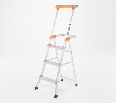 Excellent Worx Counter Step Ladder With Extended Tray Qvc Com Inzonedesignstudio Interior Chair Design Inzonedesignstudiocom