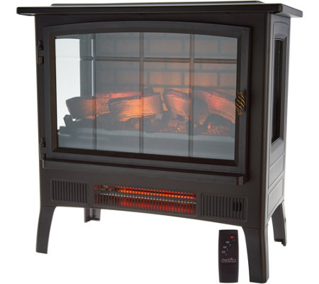 Duraflame Infrared Stove Heater w/ 3D Flame & Remote Control