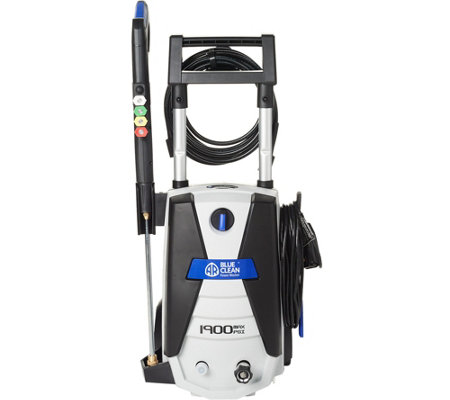 Blue Clean 1900 PSI Pressure Washer w/ 4 Spray Nozzles