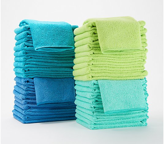 40-Piece Premium Microfiber Towel Set by Campanelli