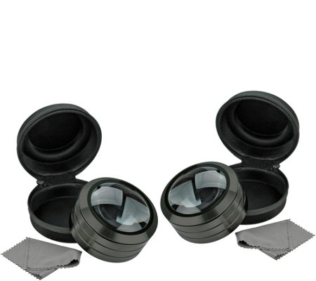 5X Magnifying Glass with LED Light and Case- Set of 2